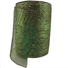 "6"" x 20 Designer Netting - Chocolate and Green Glamour"