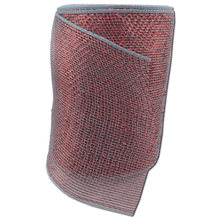 "6"" x 20 Designer Netting - Gray with Red Glamour"