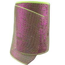 "6"" x 20 Yard Designer Netting - Lime with Purple Glamour"