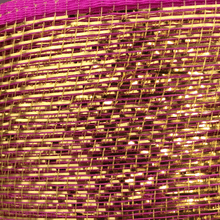 "6"" x 20 Yard Designer Netting - Pink with Gold Glamour"