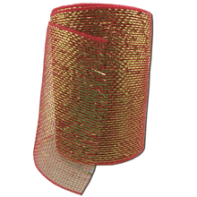 "6"" x 20 Yard Designer Netting - Red with Gold Glamour"