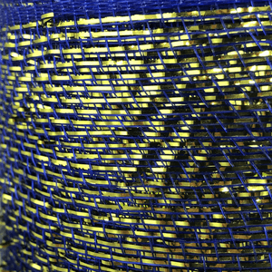 "6"" x 20 Yard Designer Netting - Royal with Gold Glamour"