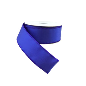 Royal Blue Ribbed Satin Ribbon