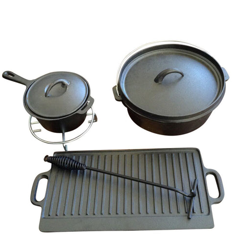 7 Piece Cast Iron Cook Set