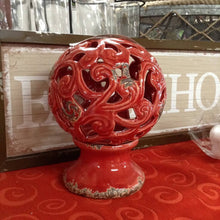 "7"" Red Ceramic Ball w/ Stand"