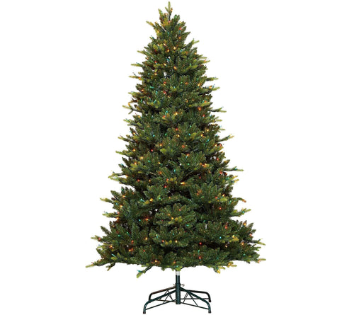7.5' Noble Spruce w/ Swift Lock & Multi Lights