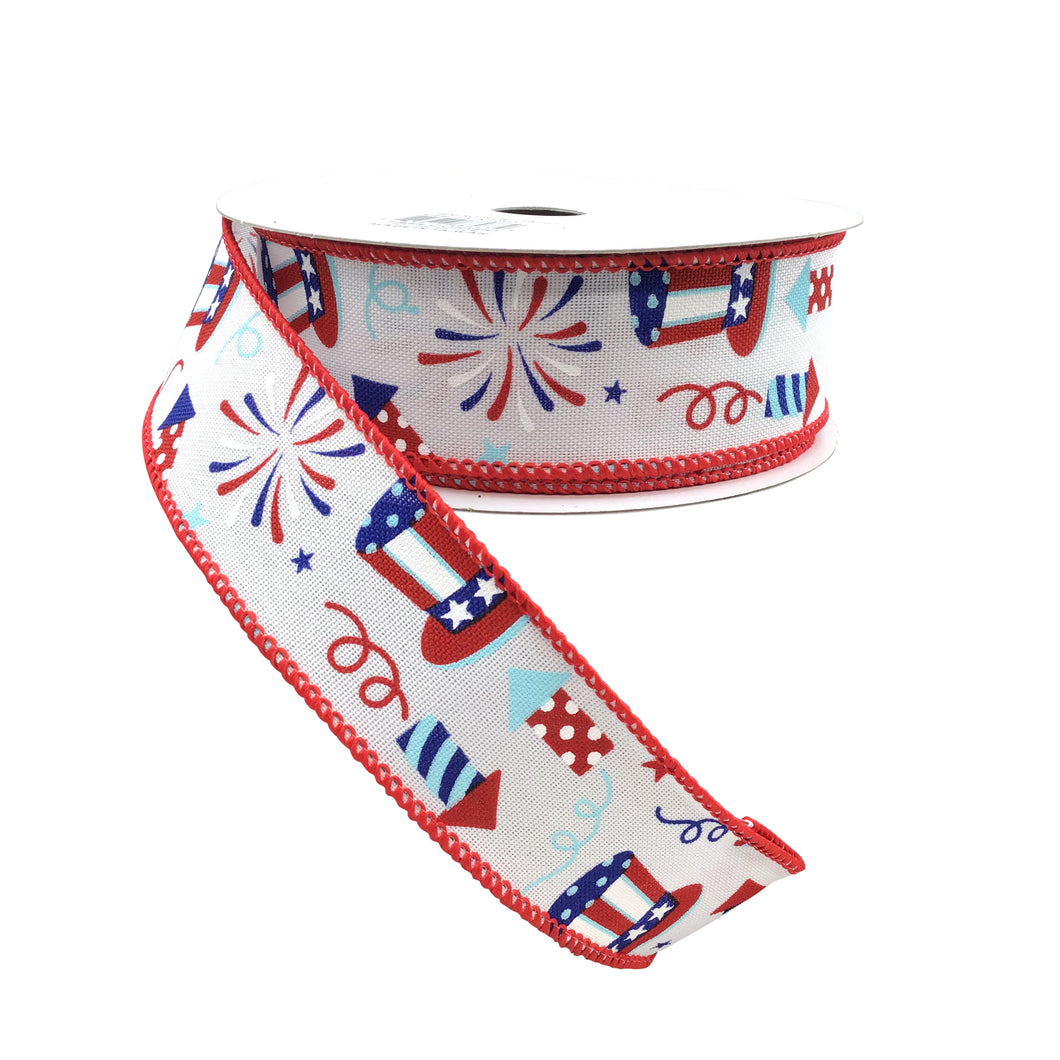 Uncle Sam Fireworks  Ribbon On Royal