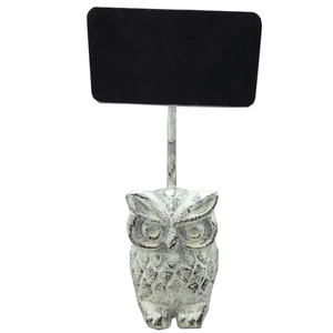 "8"" Resin Owl & Display Board"