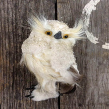 "8"" White Feather Owl"
