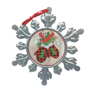 "8.25"" Large Metal Snowflake Ornament - 4 Styles"