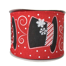 Snowman Hat Ribbon On Royal