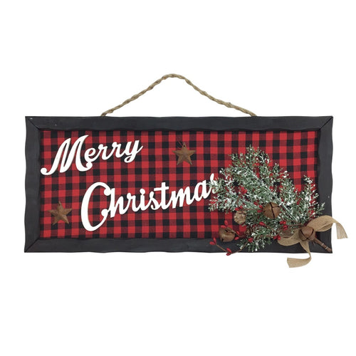 18 Inch x 8 Inch Merry Christmas Wood Plaque