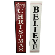 XLarge Enamel Christmas Sign With an Easel Back Stand  2 Styles