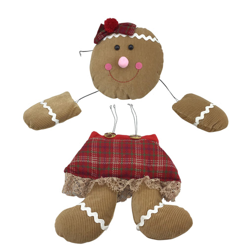 4 PC MINI GINGERBREAD GIRL DECOR KIT