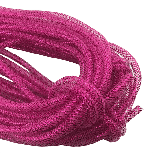 8mm x 30 YDS Designer Flex Tubing - Fuschia