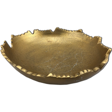 "9"" Gilded Torn Texture Metal Bowl"