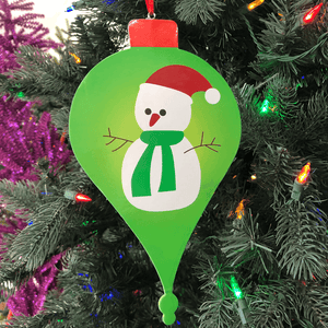 "9.5"" Snowman Paper Finial Ornament"