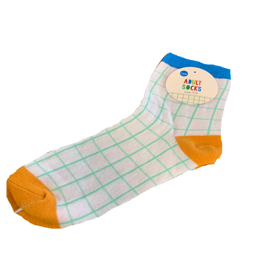 Mint Graph Print Adult Socks