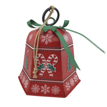 10 Inch Red Christmas Metal Bell