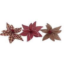 6 Wide Fabric Poinsettia Head With Clip