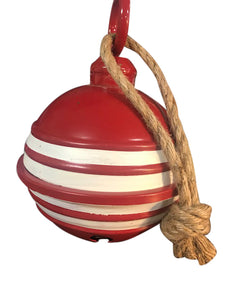 Small Metal Red And White Bell