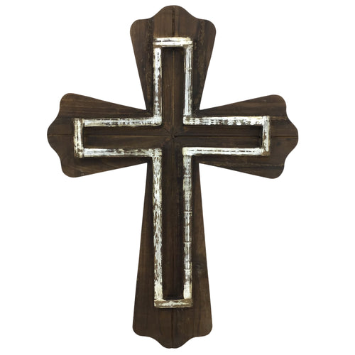 Two Layer Wooden Cross