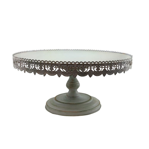 Metal Cake Stand 22 Inches Wide 10 Inches Tall