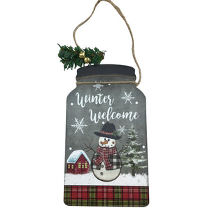 8 Inch Wood Jar Shaped Ornament 3 Styles