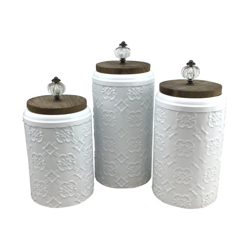 Metal Container Set Of 3 Pieces