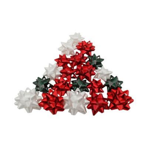 20 Count Peel 'N Stick Gift Bows Assorted
