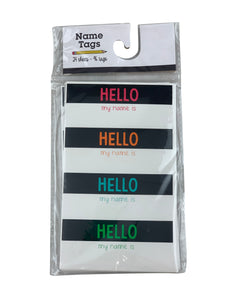 Small Hello Neon Name Tags