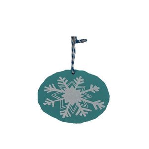 Blue Snowflake Wooden Gift Topper