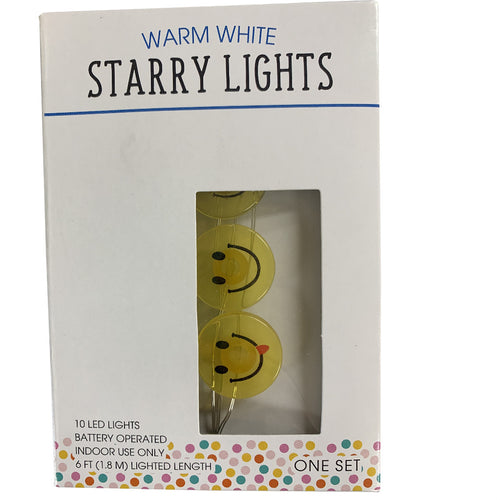 Warm White Starry Lights Emoji Accents