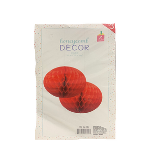 Red Honey Comb Decor- 10in.