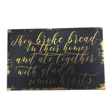 Acts 2:48 Wooden Plaque