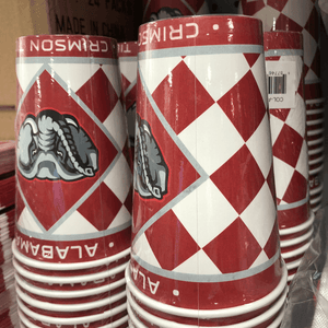 Alabama Crimson Tide Paper Cups - Pack of 8
