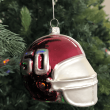 Alabama Team Helmet Glass Ornament