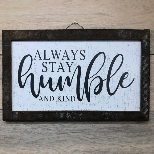 Humble and Kind Farmhouse Look Wall Art
