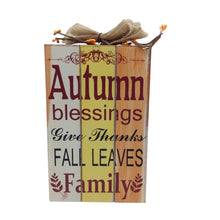 Autumn And  Harvest Wood Plaque 2 Styles