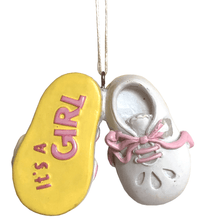 Baby Shoe Ornament - Boy or Girl
