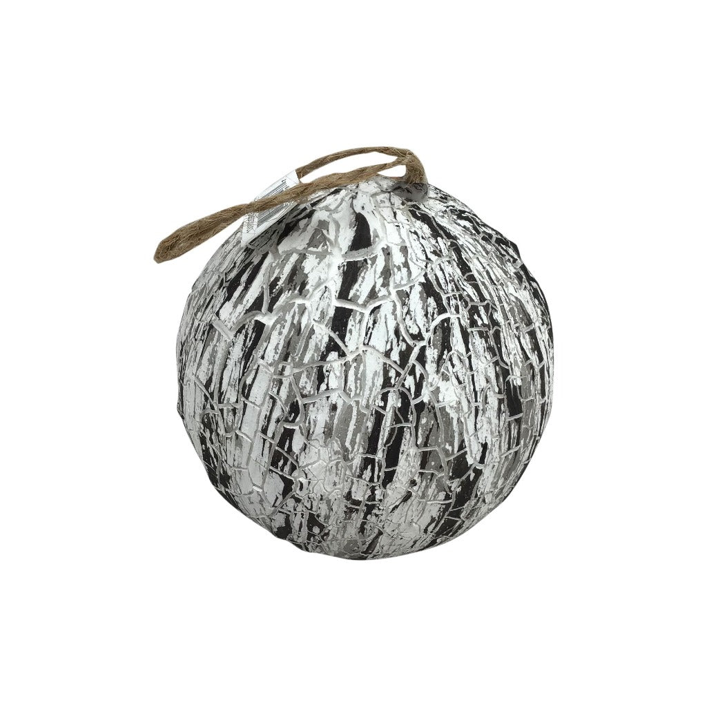 Bark Ball Ornament 4 Inch