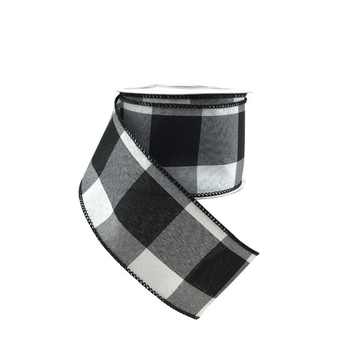 Black and White Jumbo Check Ribbon #40