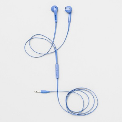 Heyday™ Wired In-Ear TPE Flat Cable Earbuds - Bicycle Blue