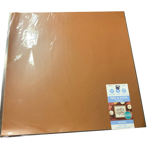 Brown Solid Vinyl Sheet