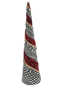 Buffalo Plaid Cone Tree