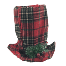 Buffalo Plaid Fabric Christmas Hat - 3 Styles