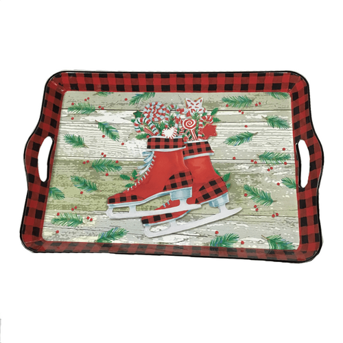 Buffalo Plaid Holiday Trays - 3 Styles
