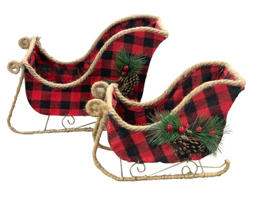 Buffalo Plaid Sleigh Set 2 Pieces