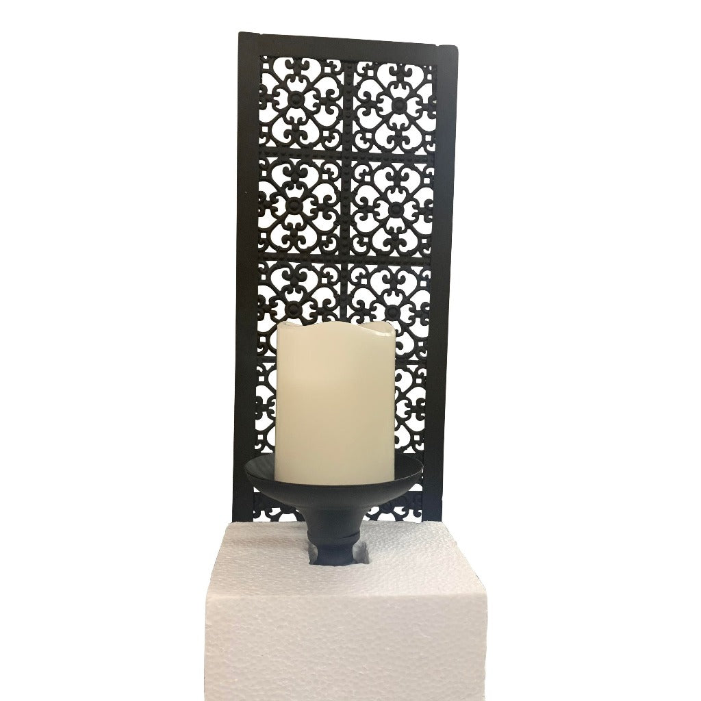 Flameless Candle Metal Wall Sconce