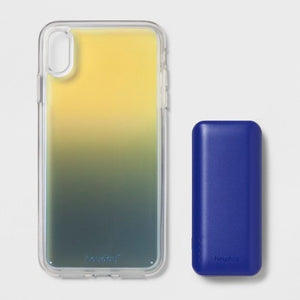 Heyday Apple iPhone XS Max Case with Power Bank – Cool Iridescent